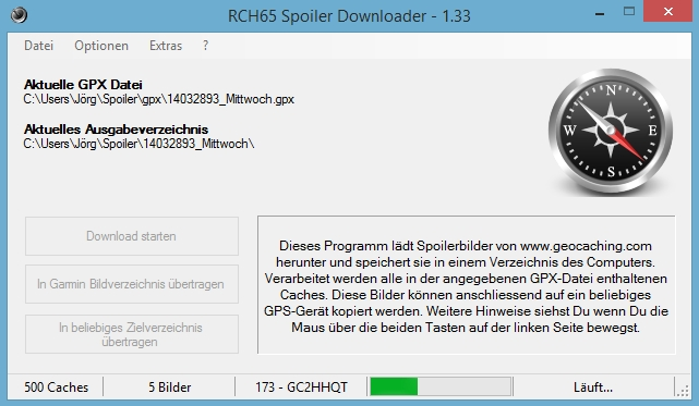 Der Download läuft