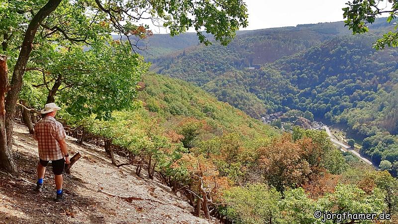 Geroldstein-Blick auf dem Wisper-Trail Dickschieder Wildwechsel
