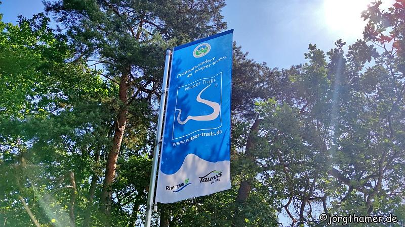 Markierung Start und Parkplatz Wisper-Trails